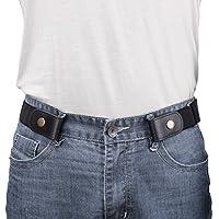 "No Buckle/Show Belt for Men Buckle Free Stretch Belt for Jeans Pants 1.38"" Wide"