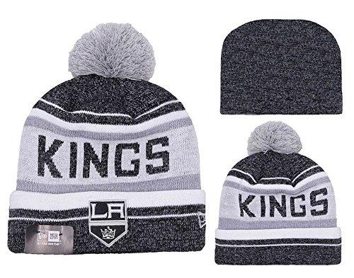 New Era Los Angeles Kings Knit Snow Dayz Pom Beanie Hat Cap - Team Colors