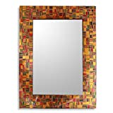 NOVICA ''Sunset Flare'' Unique Glass Mosaic Wall Mirror