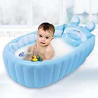 relaxing baby Inflatable Baby Bath Tub, Small Bathtub Seat for Baby Sitting Up, Portable Bathtub Chair for Baby Girl…