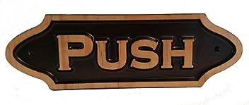 Push Small Plaque