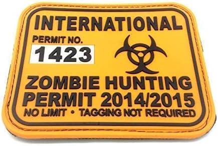 Permiso de Caza Internacional Zombie Parche Grande de Airsoft de PVC Naranja: Amazon.es: Deportes y aire libre
