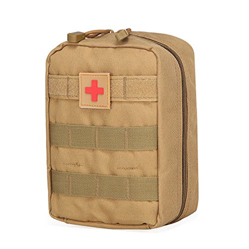 Medical First Aid Kits Survival Kit Car kit Emergencies Bag Bug Out Bag Hiking or Travel (Brown) by OME