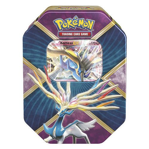 Pokemon Trading Card Game: 2016 Summer Shiny Kalos Tin- Xerneas-EX- with 4 Booster Packs and 1 Special Foil EX Card! by Pokémon