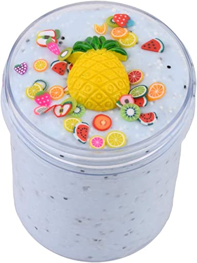 DIGOOD Pineapple Mud Fluffy Floam Slime Stress Relief Toy Ananas Scented Sludge Toys Soft Non-Sticky