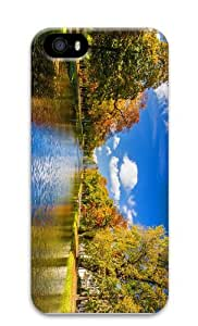 leather cases river park autumn PC Case for iphone 5/5S