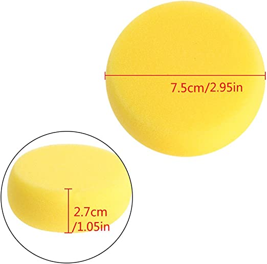 Abicial Round Painting Sponge for Art Drawing Craft Clay Pottery Sculpture Cleaning Tool