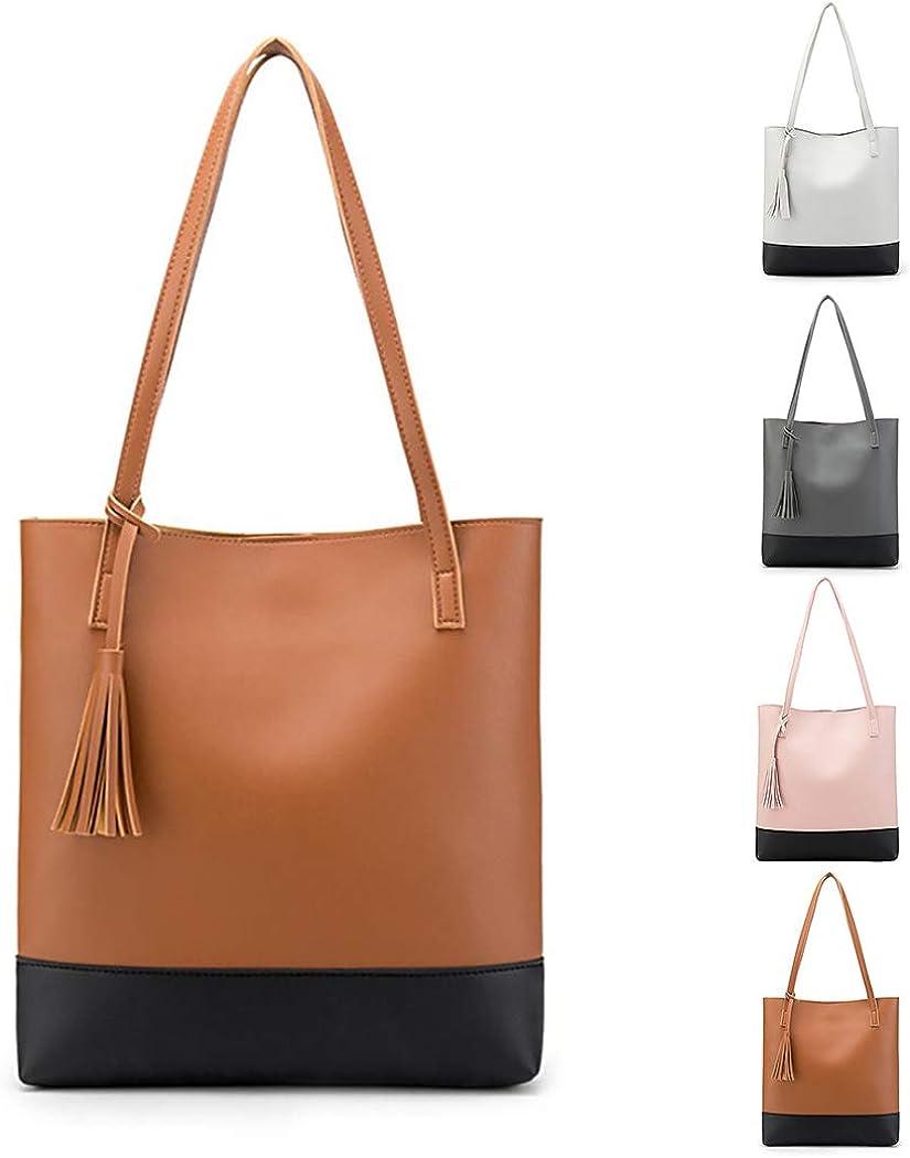 COAFIT Women Tote Bag Stylish Tassels Easy-match Shoulder Tote Bag Top Handle Bag