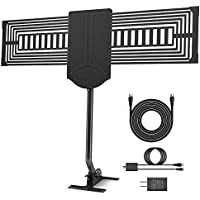 HDTV Antenna DOACE Outdoor TV Antenna 150 Mile Reception Rang with Signal Booster Outdoor/ Indoor/ Attic/ Roof Receiver 360° Omni-Directional Reception for High-Gain FM/ VHF/ UHF