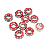uxcell 10pcs 6203RS Scooter Motorcycle Sealed Deep Groove Ball Bearing 40 x 17 x 12mm