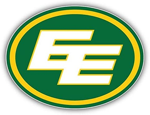 Edmonton Eskimos Logo Football Sport Vinyl Sticker 5 X 4 inches