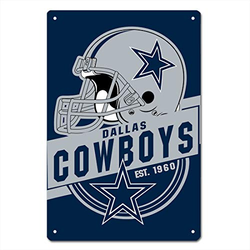 MamaTina Cool Dallas Cowboys American Football Team Design Metal Tin Signs for Home Wall Decor Size 12x8 Inches ()