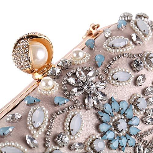 Mariage Perlée De Main Sacs Sac Embrayages Soirée Sequin Fête 1 Bandoulière Olis,femmes Fleur Chaîne À Vintage W7zY5qqw0
