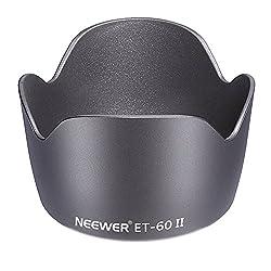 Neewer Lens Hood For Canon Ef 75-300mm F4.0-5.6 Usm, Ii, Ii Usm, Iii, Iii Usm Lenses, Canon Ef 55-250mm F4-5.6 Usm Lens, Replacement For Et-60 Ii