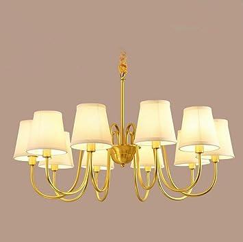 AuBergewohnlich MULANG American Bronze Kronleuchter, Wohnzimmer Licht, Europäische Einfache  Tuch Esszimmer Kronleuchter, Modern Dekoration