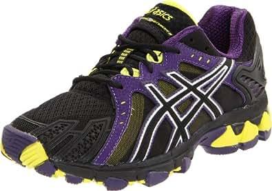 ASICS Women's Gel-Trail Sensor 5 Running Shoe,Onyx/Black/Lime,10.5 M US