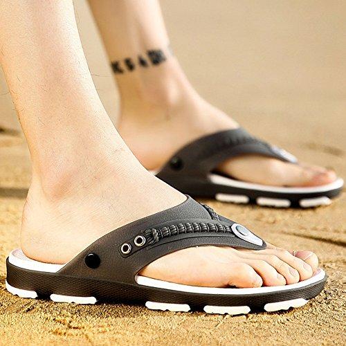 XIAOLIN Zapatillas de los hombres antideslizantes versión coreana de los hombres de la playa de verano Zapatos de los hombres usan zapatillas de marea personalizadas (tamaño opcional) ( Color : 02 , T 04