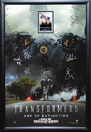 Transformers Age of Extinction - Cast Signed Movie Poster 27x41 Wood Framed with COA