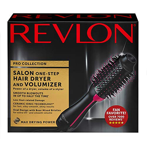 51BDcSbPTjL - Revlon One-Step Hair Dryer & Volumizer Hot Air Brush, Black