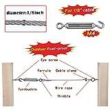 Muzata Stainless Steel 304 Turnbuckle Hook/Eye