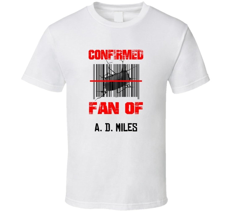 A. D. Miles NHL Scanned Barcode Fan T shirt 2XL White
