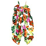LELEFORKIDS - Toddlers and Girls Fiji Jumpsuit Tropical Floral in Sunbathe Clay 4T