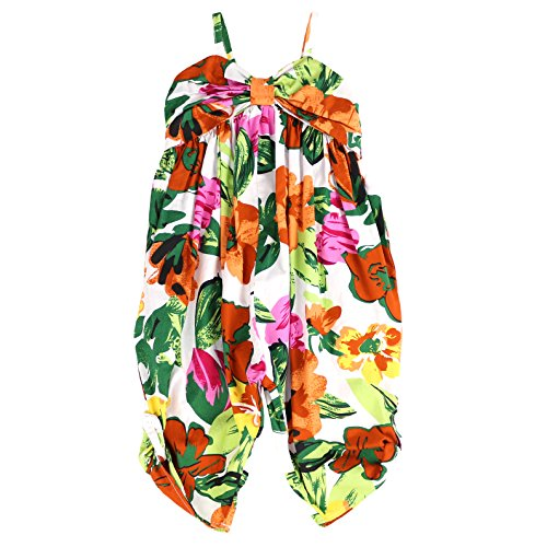 LELEFORKIDS - Toddlers and Girls Fiji Jumpsuit Tropical Floral in Sunbathe Clay 7/8