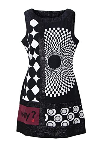 Desigual s 47V2827BLACK Dress 47V2827BLACK Black s Women Desigual Cotton Women nHBXpB