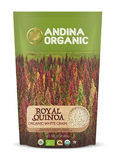 Andina Organic - Authentic Royal Quinoa from Bolivia | Plant Based Vegan Food Protein Source Whole Grain Organic Quinoa (1 Pack) (Chia Seeds Peruvian)