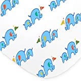 One Soft & Cozy Fitted Muslin Cotton Baby Crib Sheet. Cute Blue Prints For Boys, Infants, Toddlers Christmas, Baby Shower Gifts. Premium Machine Washable & Dryer Friendly Sheets. Reviews