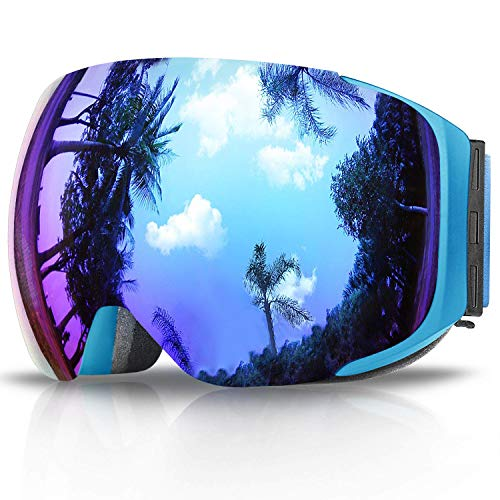 findway Ski Goggles, Snow Snowboard Snowboarding Sports Goggles Glasses - for Women Men Ladies Youth Teen OTG Over Helmet Compatible - Anti-Fog 100% UV Protection, Anti-Glare Ski Goggles