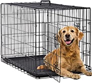 BestPet 24 inch 30 inch 36 inch 42 inch 48 inch Large Dog Crate Dog Cage Dog Kennel Metal Wire Double-Door Fol