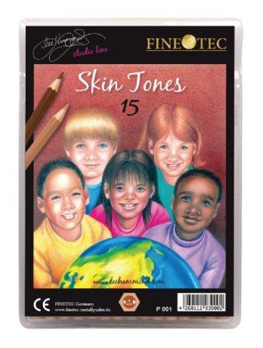 Amazon.com : Finetec Skin Tone Pencils - Set of 15 Colors : Wood ...