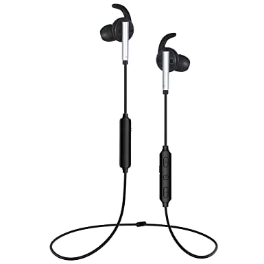 Up to 92 22dB Active Noise Cancelling Bluetooth Earbuds – Ansten Super Bass Aptx Wireless Bluetooth Headphones, Sweatproof Comfortable ANC Neckband Headset with Mic for Sports, Travel, Mowing