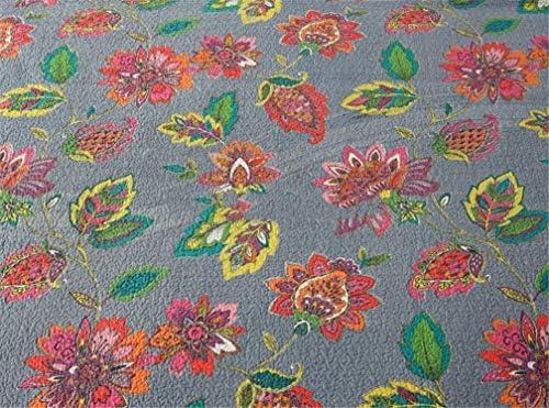 ADGAI Courtepointe Couvre-lit pour Chambre Décor 100% Polyester Motif Fleur de Coton 3 pièces matelassées Couvertures Jetés de lit Taies, 230 x 250 cm