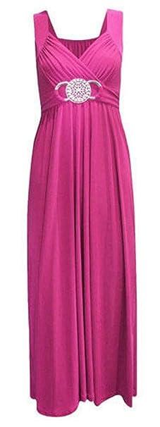 b7a635c4ea9ad Fashion Fairies New Womens Ladies Fiesta cóctel Noche Largo Buckle Prom  Maxi Vestido Plus Size UK8 - 26  Amazon.es  Ropa y accesorios