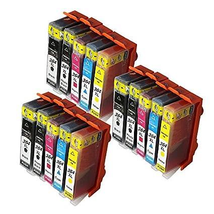 ouguan® 3 - Juego (15 unidades) de tinta para HP 364 nuevo ...