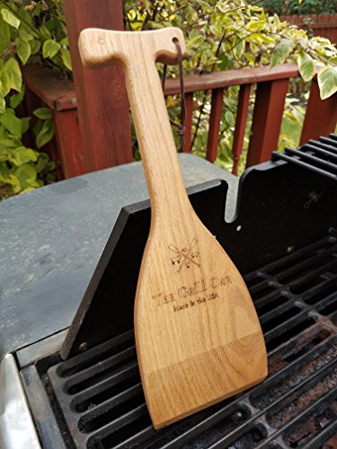 The Grill Oar - Wooden Grill Scraper and Cleaner, Premium Red Oak Wood, Cleans Top and Between Grates, Safe Replacement for Wire Bristle Brush, Made in The USA, Free Koozie Included! by Simply Better (Image #1)