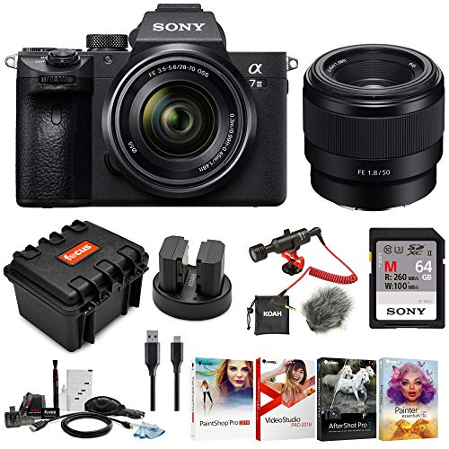 (Sony a7 III Full Frame Mirrorless Interchangeable Lens Camera w/ 28-70mm & FE 50mm f/1.8 Two Lens Kit)