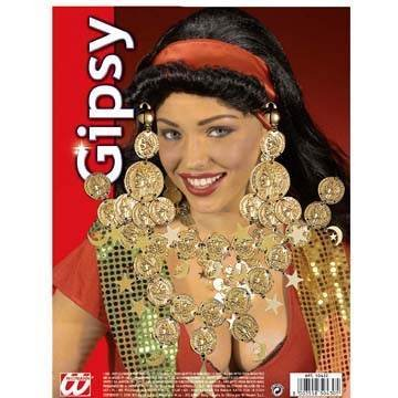 Gipsy Set Necklace / Earrings Gipsy Jewellery For Fancy Dress Costumes ()