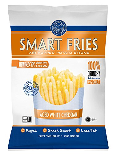 Gourmet Basics Smart Fries Aged White Cheddar, 1-Ounce Bags (Pack of - Fat Reduced Cheddar