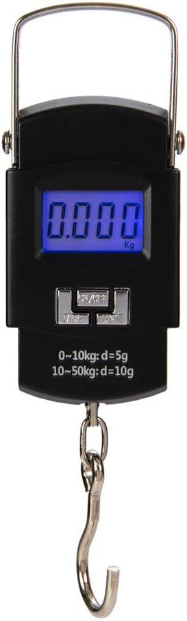 Hyindoor 50kg Básculas Colgantes Electrónico Digital Portable para Maleta o Bolsa de Viaje