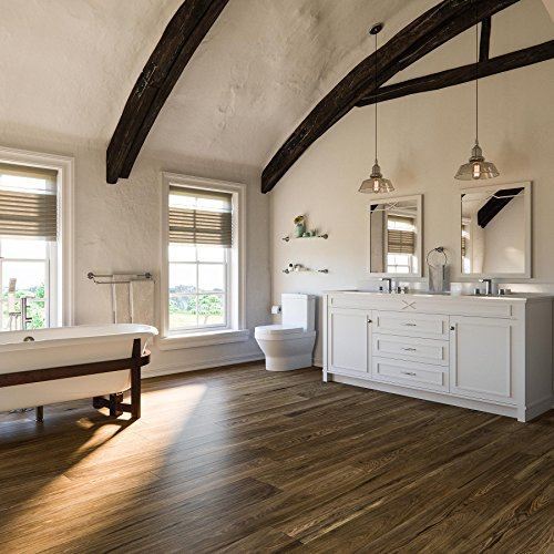 MAYKKE Heirloom Pine 47 Sq Ft Vinyl Plank Flooring 48x6 inch   Resembles Hardwood, Or Use for Wood Accent Wall   Pack of 24, Easy Install JHA1000102 by Maykke (Image #2)