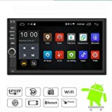 YODY Android 7.1 Double Din Car Stereo Radio 7 Inch Touch Screen in Dash GPS Navigation Support WiFi Bluetooth Mirror Link SWC OBD with Free Backup Camera For Sale
