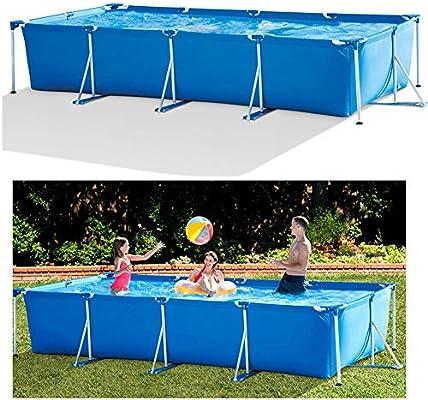 WN-PZF Jardín Piscina, Piscina Al Marco Rectangular Piscina Sin Filtro De La Bomba, Gradilla Piscina para Niños Familiar Actividades Engrosamiento 177X87x33 Pulgadas: Amazon.es: Deportes y aire libre
