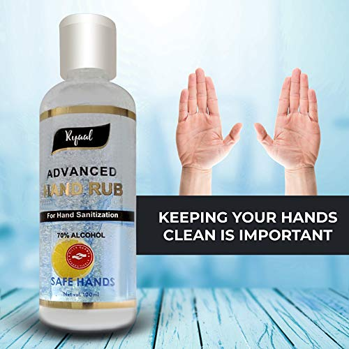 Ryaal 70% Alcohol Based Hand Rub For Hand Sanitization – 100 ml