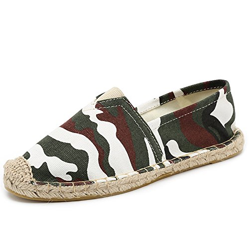 Hemp Espadrilles Flats Women Men s Slip SHELAIDON Canvas Shoes Loafers on  camouflage Linen Straw And x7H4wnfqY0 8fa40370eaed