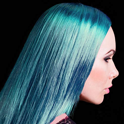 Manic Panic Mermaid Blue Hair Color Cream – Classic High Voltage - Semi-Permanent Hair Dye - Vivid, Blue Shade - For Dark, Light Hair – Vegan, PPD & Ammonia-Free - Ready-to-Use, No-Mix Coloring