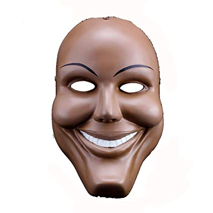 yufeng men resin scary smile face halloween mask the purge anarchy movie costume dress