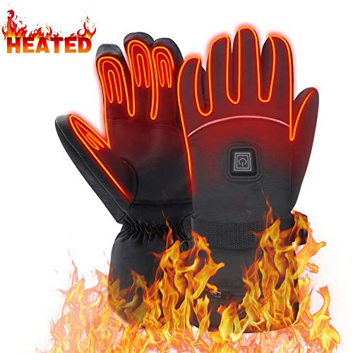 - Heated Gloves Includes 7.4V Li-ion Battery, Rechargeable Camping Hand Warmer Men Woman Mittens for Cold Winter,Perfect for Snowboarding, Shredding, Shoveling, Snowballs, Riding, Climbing,Hunting (XL)